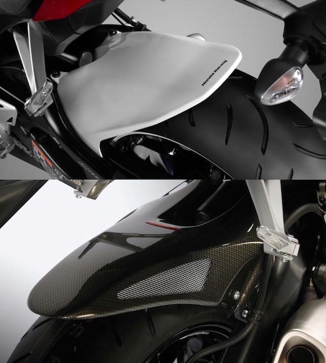 Chắn bùn phụ phía sau, riêng trên Black Edition là loại bằng vật liệu Carbon