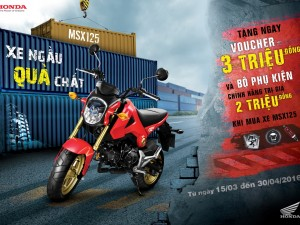 Honda Việt Nam tri ân khách hàng mua xe MSX 125cc