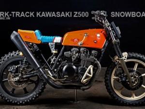 Mãn nhãn với siêu dirt-track vượt tuyết Kawasaki Z500
