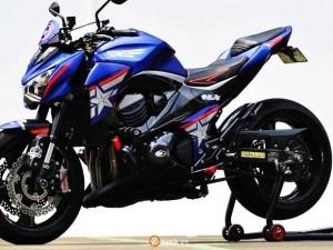 Kawasaki Z800 độ đẹp với phiên bản Captain American siêu ngầu