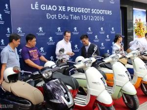 PEUGEOT Scooter chính hãng Pháp đã chính thức giao hàng vào 15/12/2016