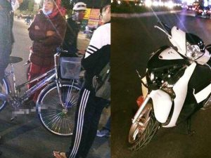 Sau vụ va chạm Honda SH bể dàn đầu, xe đạp vẫn còn nguyên vẹn