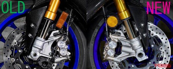 yzf-r1m front fork with gas chamber