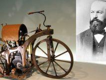 Gottlieb Daimler và chiếc xe Reitwagen.