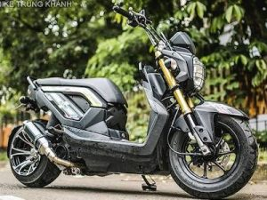 Honda Zoomer X độ bánh béo cực chất của dân chơi Hà Nội